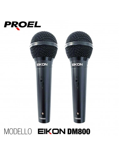 Proel EIKON DM800 Coppia Microfoni Gelato con switch on/off x live canto karaoke